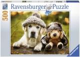 Puzzle Labrador Cu Palarie, 500 Piese Ravensburger
