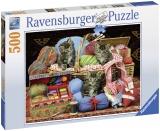 Puzzle Pisici Si Ghem, 500 Piese Ravensburger