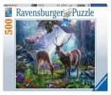 Puzzle Cerbi In Padure, 500 Piese Ravensburger