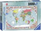 Puzzle Harta Politica A Lumii 2, 1000 Piese Ravensburger