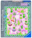 Puzzle Alpaca Si Cactusi, 1000 Piese Ravensburger