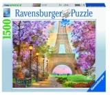 Puzzle Alee Romantic Paris, 1500 Piese Ravensburger