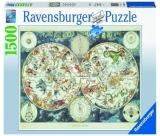 Puzzle Harta Lumii Creturi Fantastice, 1500 Piese Ravensburger