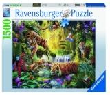 Puzzle Iaz Cu Tigri, 1500 Piese Ravensburger