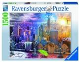 Puzzle 4 Anotimpuri New York, 1500 Piese Ravensburger