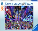 Puzzle Anul Nou Time Square, 500 Piese Ravensburger