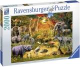 Puzzle Animale La Oaza, 2000 Piese Ravensburger