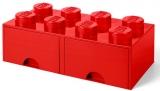 Cutie depozitare 40061730 LEGO 2x4 cu sertare, rosu