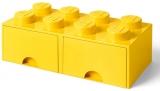 Cutie depozitare 40061732 LEGO 2x4 cu sertare, galben