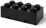 Cutie depozitare 40061733 LEGO 2x4 cu sertare, negru