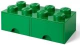 Cutie depozitare 40061734 LEGO 2x4 cu sertare, verde