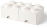 Cutie depozitare 40061735 LEGO 2x4 cu sertare, alb