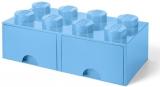 Cutie depozitare 40061736 LEGO 2x4 cu sertare,albastru deschis