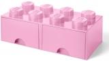 Cutie depozitare 40061738 LEGO 2x4 cu sertare, roz