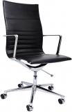 Scaun ergonomic Haven W, piele ecologica, negru RFG