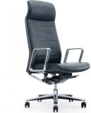 Scaun ergonomic Lider HB, piele ecologica, negru RFG