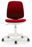 Scaun ergonomic pentru copii Lucky White, damasc, rosu RFG