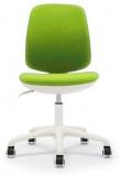 Scaun ergonomic pentru copii Lucky White, damasc, verde RFG