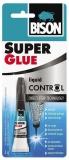 Adeziv cianoacrilat lichid, Super Glue Control, 3 gr Bison