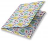 Mapa A4 carton plastifiat lucios, cu elastic, Colorful Waves