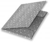 Mapa A4 carton plastifiat lucios, cu elastic, Black & White