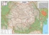Harta Romania Rutiera 100 x 70 cm sipci plastic