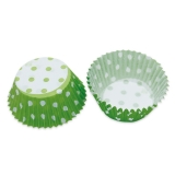 Set Forme de copt din Hartie Pois Verde 48 buc/Set Big Party
