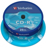 CD-R 700 MB 52X Extra Protection 25 buc/set Verbatim