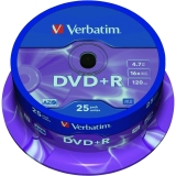 DVD+R 4.7 GB Spindle 25/set Verbatim