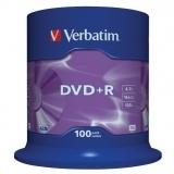 DVD+R 16X 4.7 GB SP 100 bucati Verbatim