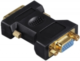Adaptor VGA - DVI, stecher DVI - priza VGA, aurit, ecranat Hama