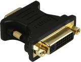 Adaptor VGA-DVI, stecher VGA - priza DVI, aurit, ecranat Hama