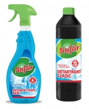 Dezinfectant baie 500 ml + detartrant clasic 800 ml Nufar