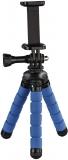 Mini Trepied Flex, 14 cm, pentru GoPro sau smartphone, Albastru Hama