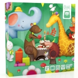 Puzzle tactil, Petrecerea animalelor EurekaKids