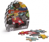 Puzzle educativ, 36 piese, Karting EurekaKids