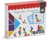 Puzzle magnetic educativ din lemn, Tangram EurekaKids