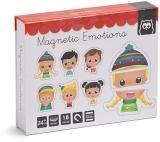 Puzzle magnetic educativ din lemn, Emotii EurekaKids