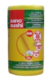 Lavete galbene, 27 x 28 cm, 40buc/rola, Sano Sushi Cloth