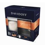 Cafea macinata Espresso 57 2 buc/set, 250 g/buc si cana cadou Davidoff