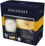 Cafea macinata Fine Aroma 2 buc/set, 250 g/buc si cana cadou Davidoff