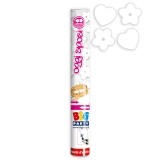Tun Confetti 30 cm Inimi & Flori Albe Big Party