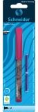 Stilou Voice, penita M, roz + 2 rezerve cerneala/blister Schneider