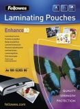 Folii laminare 80 microni Fellowes A4, ADH back, Enhance 100 coli/top