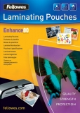 Folii laminare 80 microni Fellowes A3, ADH back, Enhance 100 coli/top