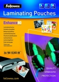 Folii laminare 80 microni Fellowes A4 glossy, Enhance 100 coli/top
