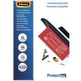 Folii laminare A3 lucioase 175 microni Protect 100 folii/top Fellowes