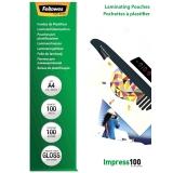 Folii laminare A4 lucioase 100 microni Impress 100 folii/top Fellowes
