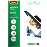 Folii laminare A3 lucioase 100 microni Impress 100 folii/top Fellowes