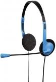 Casti HS-101, negru/albastru Hama